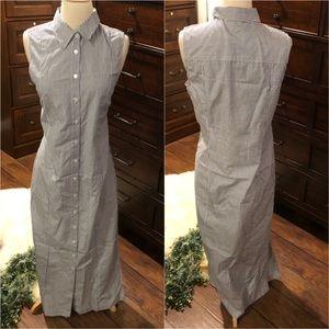 Jenni Kanye Striped Maxi Shirt Dress